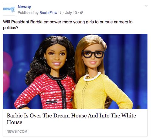 Newsy President Barbie