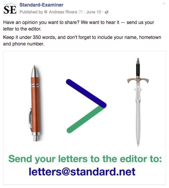Ogden letters pen sword