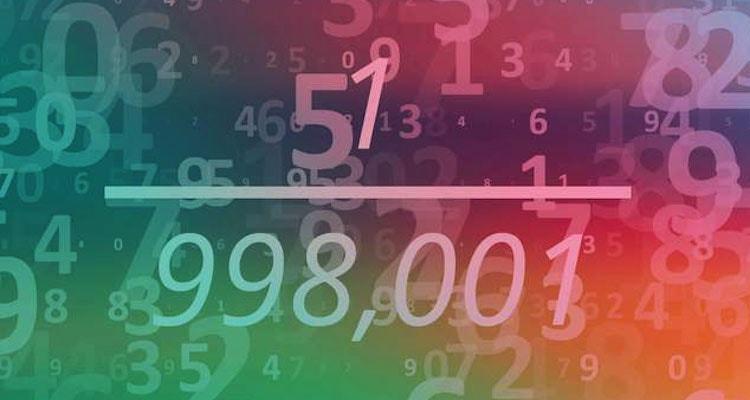 1 division 998001 étrange mathematiques etonnant