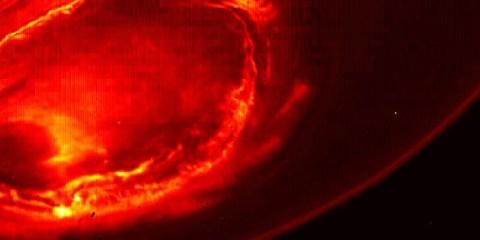 Pôle sud Jupiter poles planète Juno nasa australe