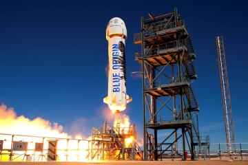 new-shepard blue origin fusée réutilisable test réussis
