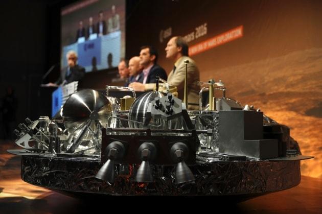 modèle vaisseau sonde spatiale schiaparelli exo mars exomars