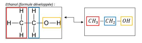 formule semi-semi-développée