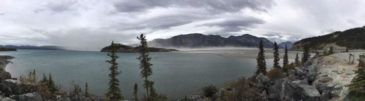 Kluane lac rivière assechée disparition réchauffement climatique