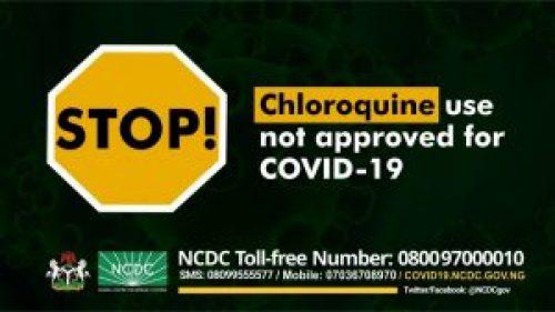 Nigeria self-medication alert chloroquine
