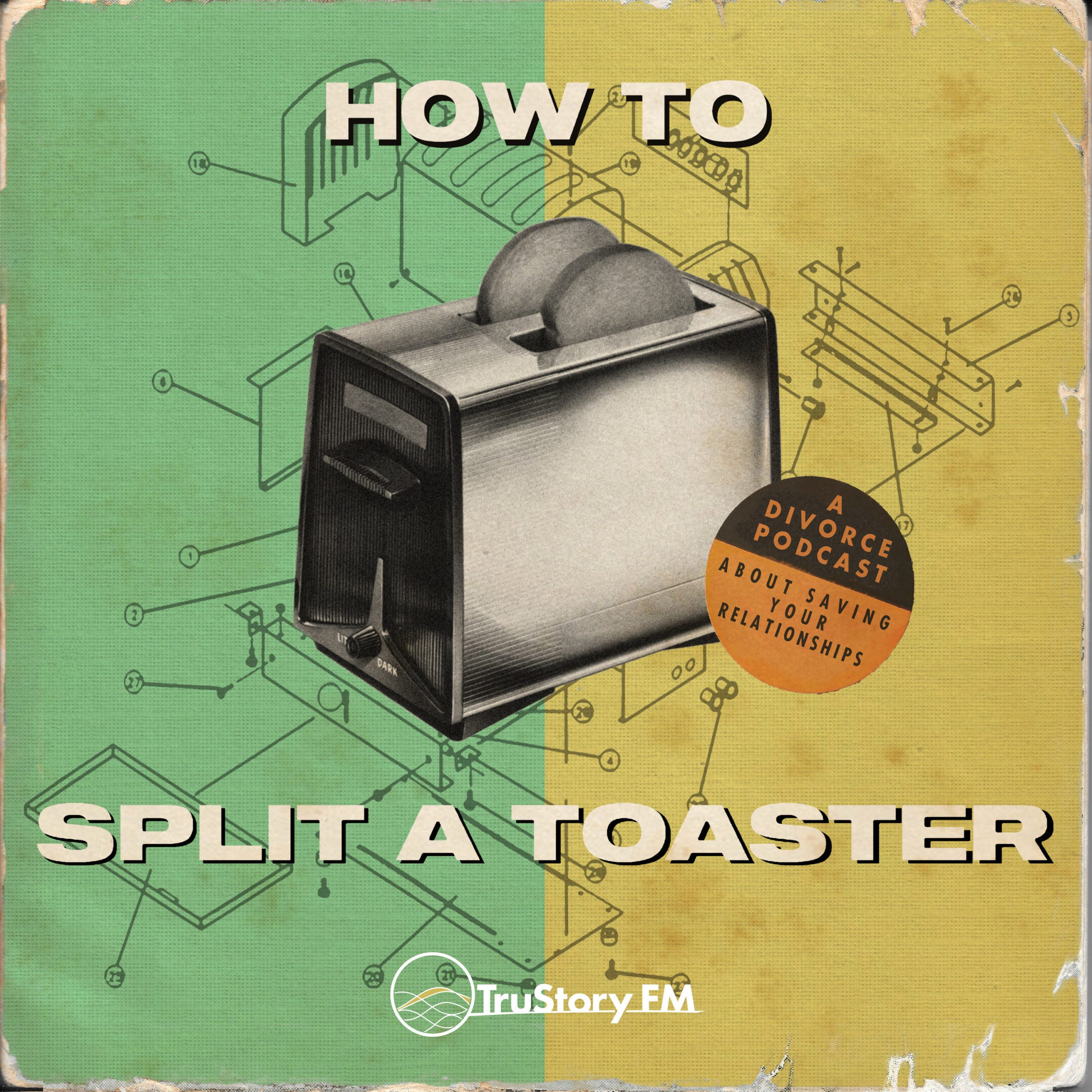 How to Split a Toaster Logo