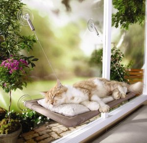 4.Sunny Seat Window-Mounted Cat Bed
