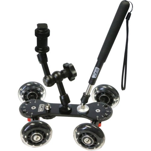 7.Vidpro Professional Skater Dolly for DSLR Camera