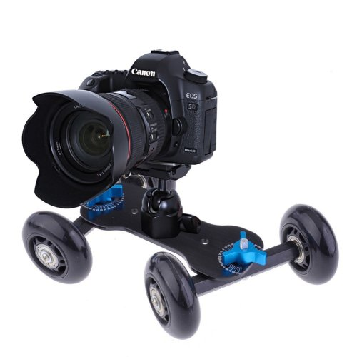 9.NEEWER Tabletop Mobile Rolling Slider Dolly