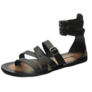10. Mordenmiss Men's Summer Ankle Strap Leather Flat Flip Flop Sandals
