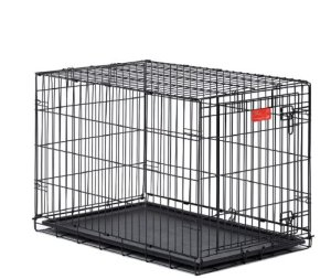 3.Midwest Life Stages Single-Door Folding Metal Dog Crate