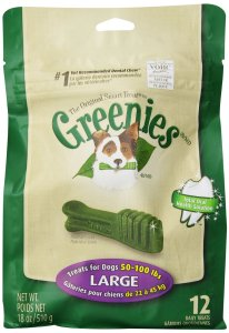 2. Dental Treats Large Size by Greenies