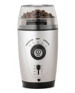 4. Hamilton Beach Custom Grind Hands-Free Coffee Grinder