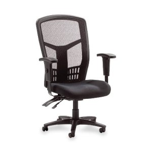 8.Lorell Executive High-back Chair, Mesh Fabric