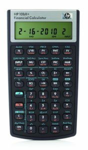9. HP 10bII Financial Calculator