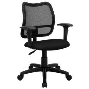 9.Flash Furniture Mid-Back Mesh Task Chair with Arms and Base