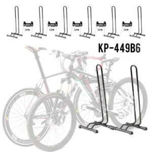 8.Adjustable 1-6 Bike Floor Parking Rack Storage Stands Bicycle