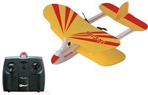 5. Top Race Electric 2 Ch Infrared Remote Control RC Biplane Airplane RTF