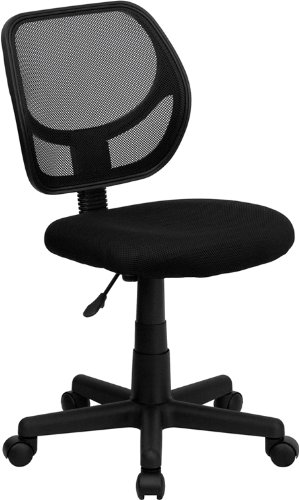 2. Flash Furniture Mid-Back Black Mesh Task and Computer Chair
