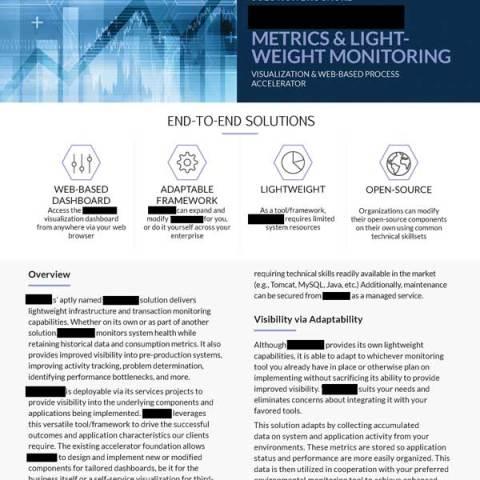 Marketing -- IT Monitoring Solution Brochure