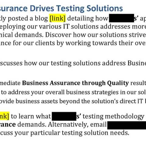 Email Blast IT Business Assurance (UK)
