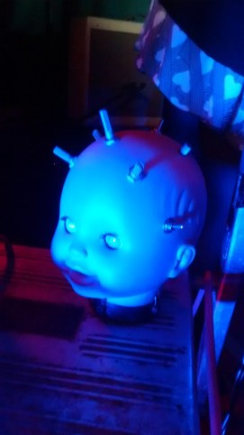 creepy doll's head theremin again