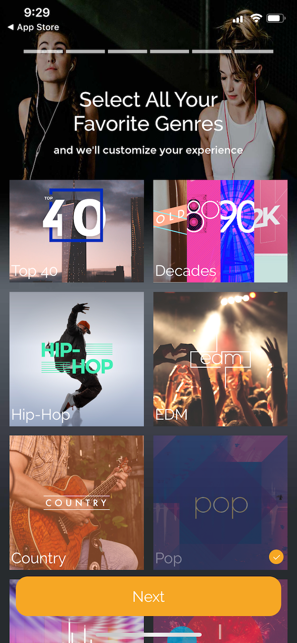 Fit Radio music genres