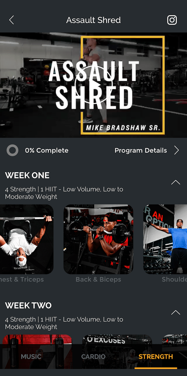 Fit Radio strength workouts