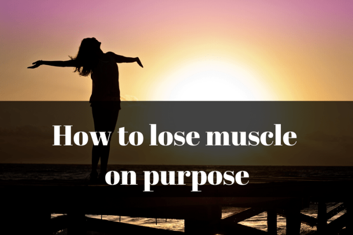 Skinny woman and how to lose muscle