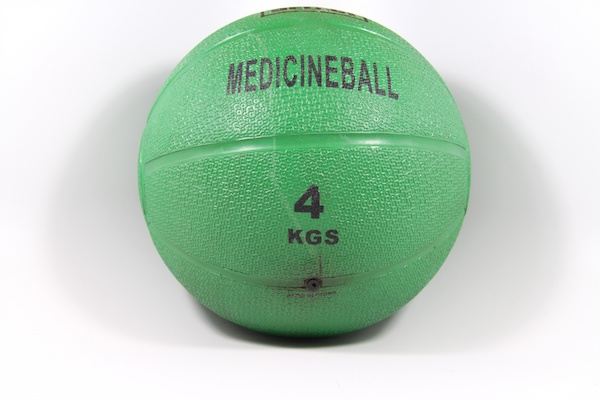 Green 4lb medicine ball