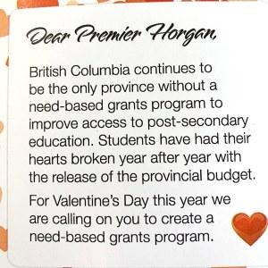 Grants Not Loans Valentines