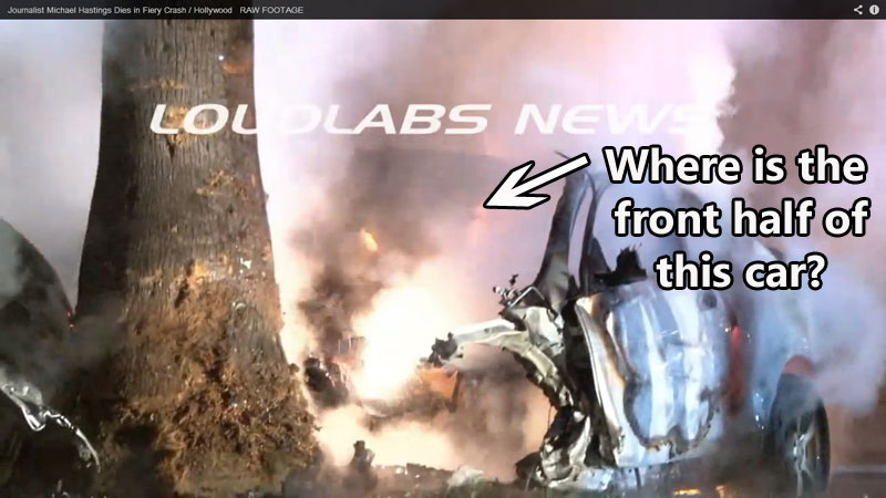 Image result for pics of michael hastings car crash