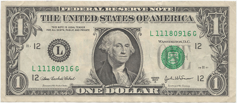 Dollar bill - Creative Commons