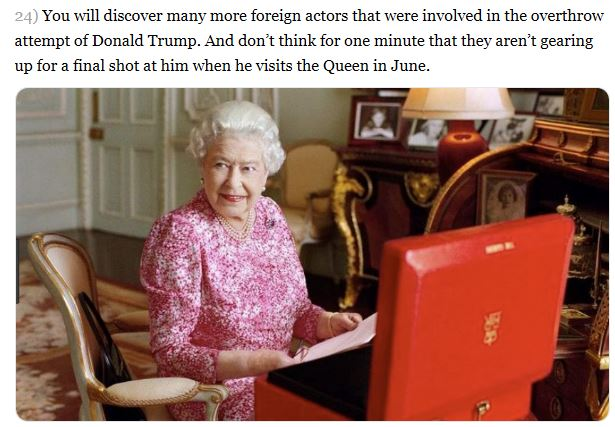 queen and her red box