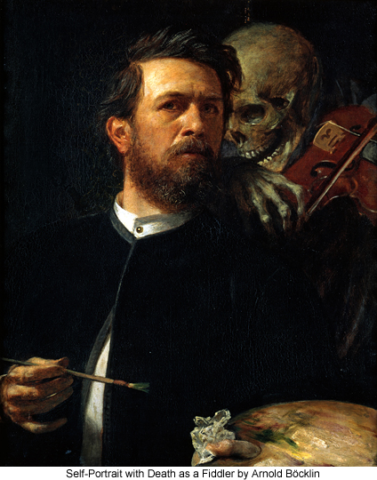 Self-Portrait with Death as a Fiddler