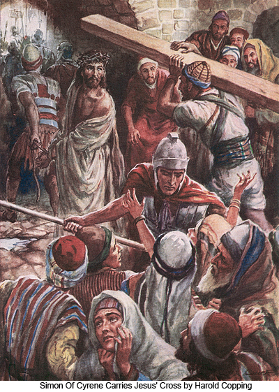 Simon Of Cyrene Takes Jesus Cross