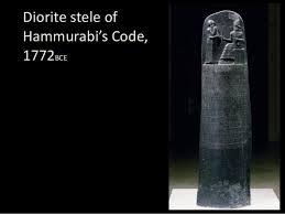 Black Dorite Stele