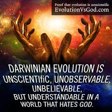 Darwinian evolution statement