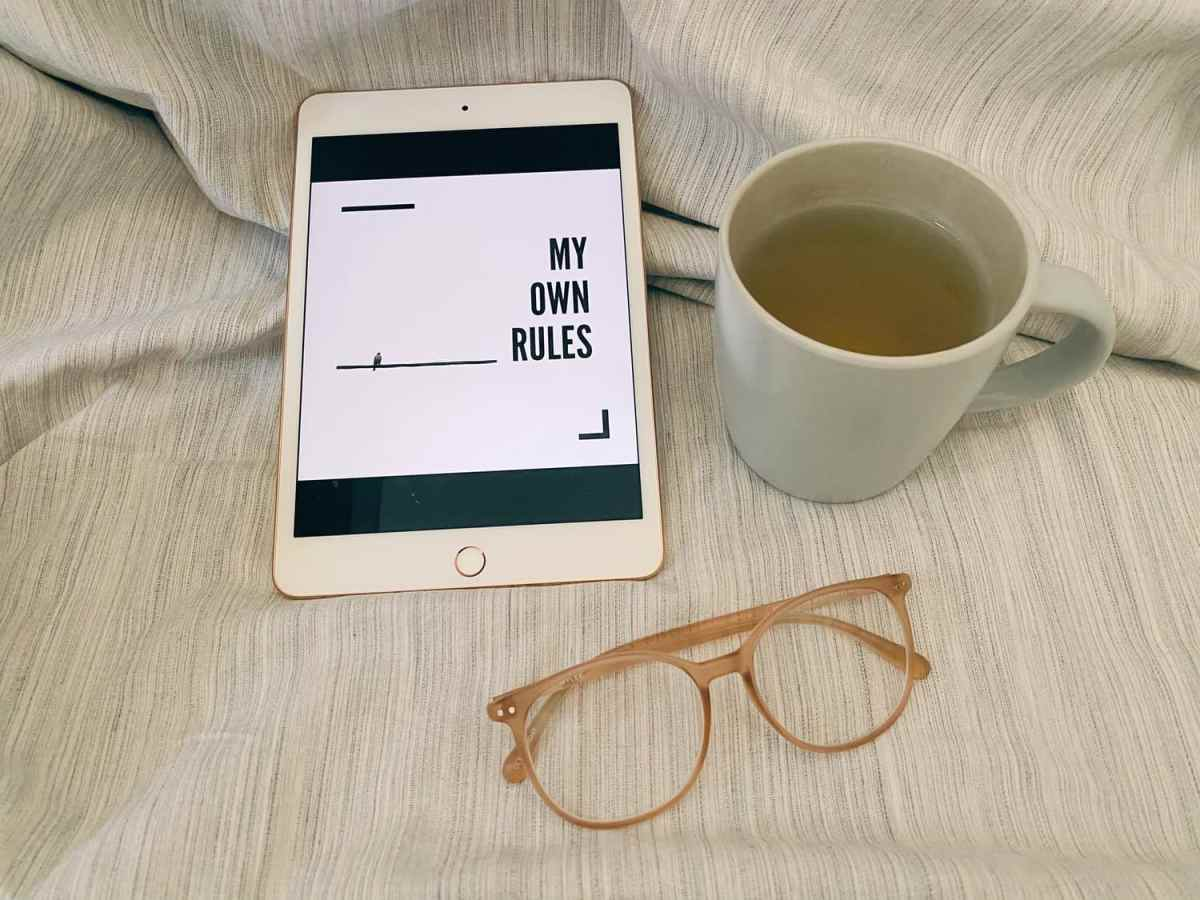 tea cup, create your own rules on iPad