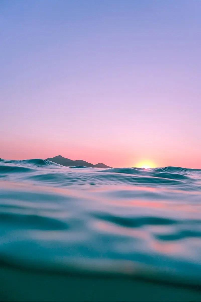 ocean water.