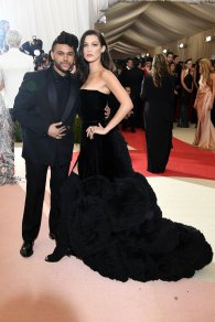 Gorgeous gown! I absolutely love black on her it makes her look timeless and the boots bring the sexy to the look. She's absolutely stunning. SOURCE: http://www.vogue.com/slideshow/13429562/met-gala-2016-red-carpet-celebrity-fashion-live/#48