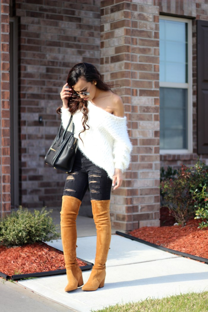 Black and Camel Outfit. Click through to shop.