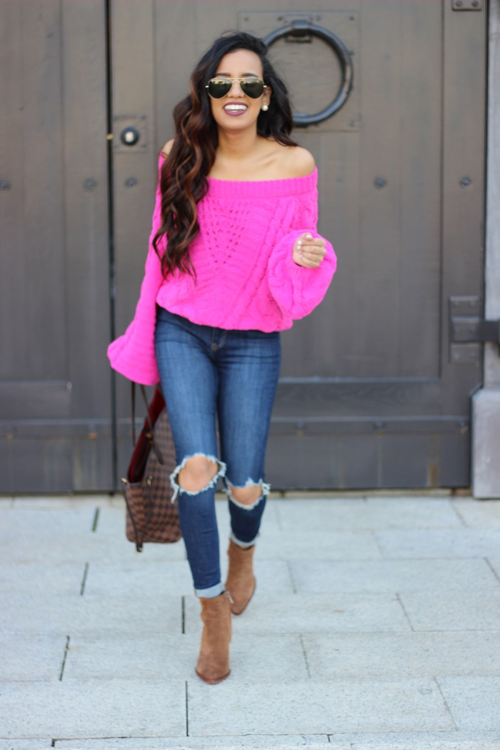 Express Pink Sweater