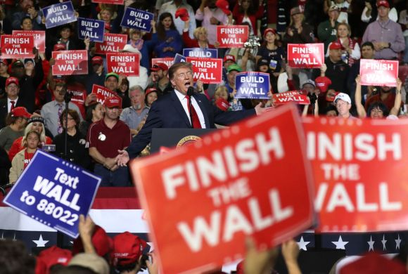 President Donald Trump speaks during a rally at the El Paso County Coliseum on February 11, 2019, in El Paso, Texas.