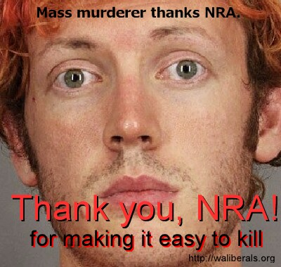 James Holmes thanks the NRA for making it easy to kill
