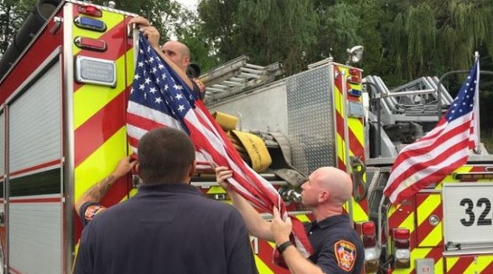 Fire District Forced To Remove American Flags From Fire Trucks (Video)