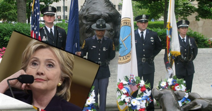 Police Union 'Disappointed & Shocked' After Being Snubbed By Hillary (Video)