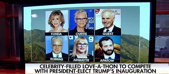Celebrities Planning  Facebook 'Love-A-Thon' Against Trump Inauguration (Video)