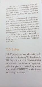 T.D. Jakes Instinct Content Insert 2