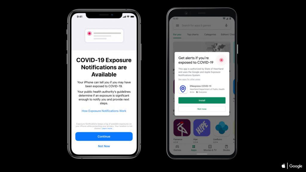 COVID-19 Exposure Notification Screenshot